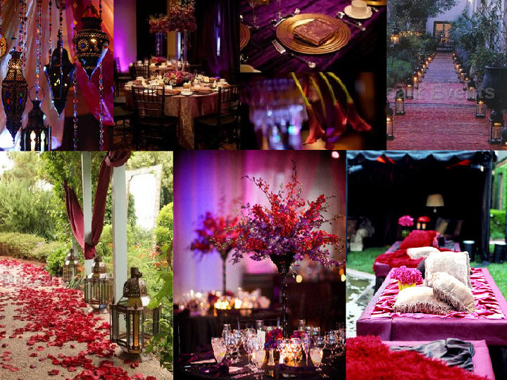 New Year's Eve Moroccan Wedding : PANTONE WEDDING Styleboard : The