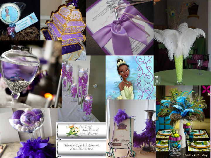 Princess And The Frog Theme Bridal Shower PANTONE WEDDING Styleboard