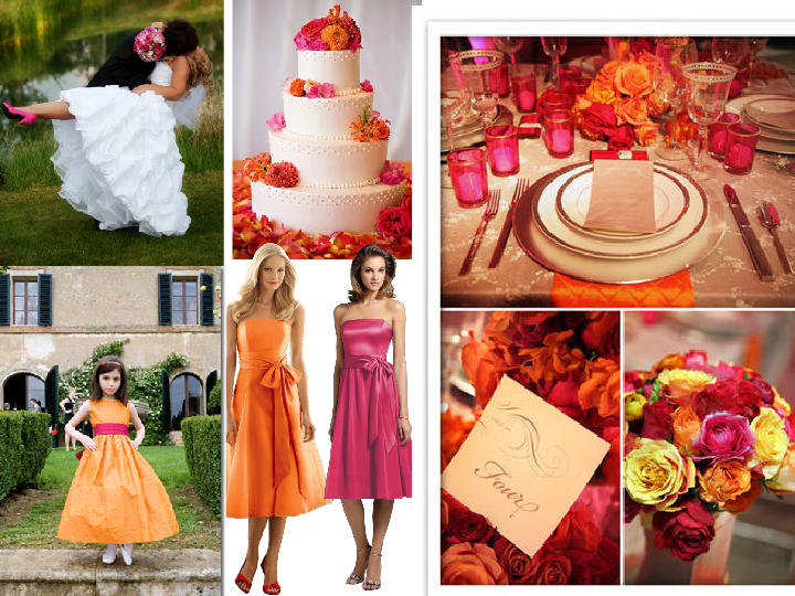 Wedding Decoration Colours Reyne 39 S Blog I 39ve Seen Orange And Hot Pink Bouquets And The Seem To