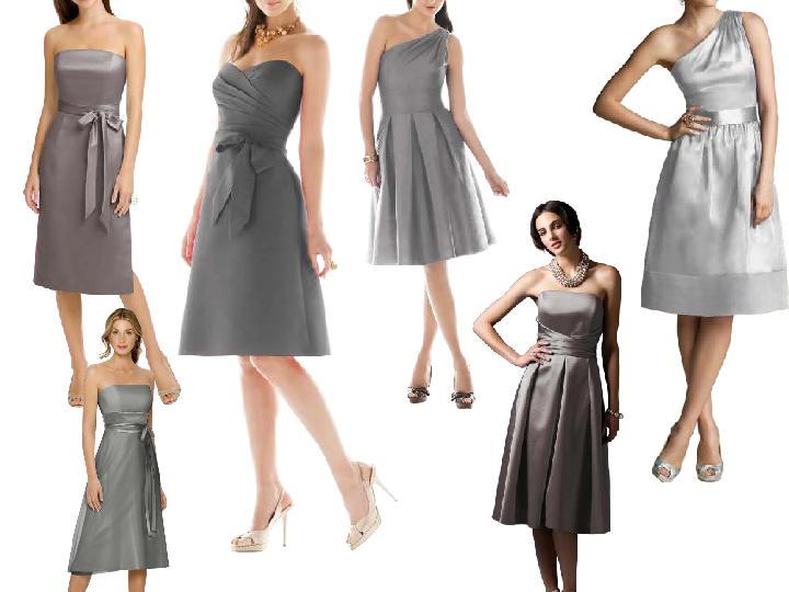 Short charcoal grey dresses pantone wedding styleboard for Charcoal dresses for weddings