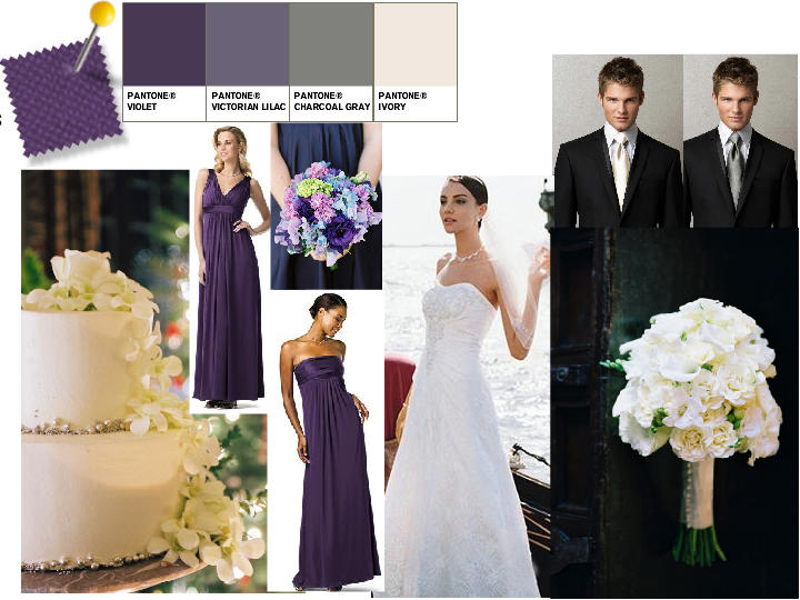 Ivory Champagne Victorian Lilac and Violet PANTONE WEDDING