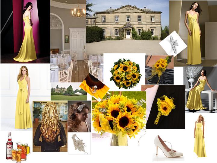 Yellow Help me build a black white and yellow wedding photo 3447711-1