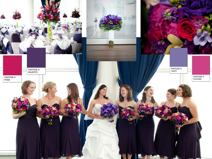 Majestic floral pantone wedding styleboard the dessy group for Winter wedding colors for bridesmaids dresses