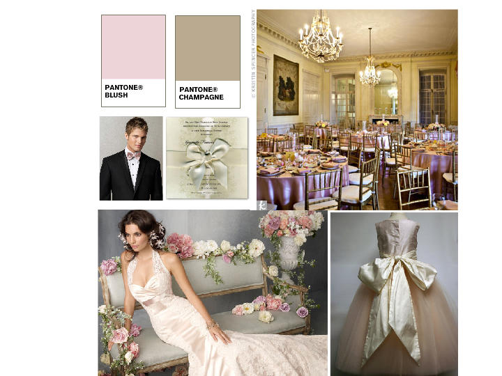 Blush Pink and Champagne Wedding : PANTONE WEDDING Styleboard | The ...