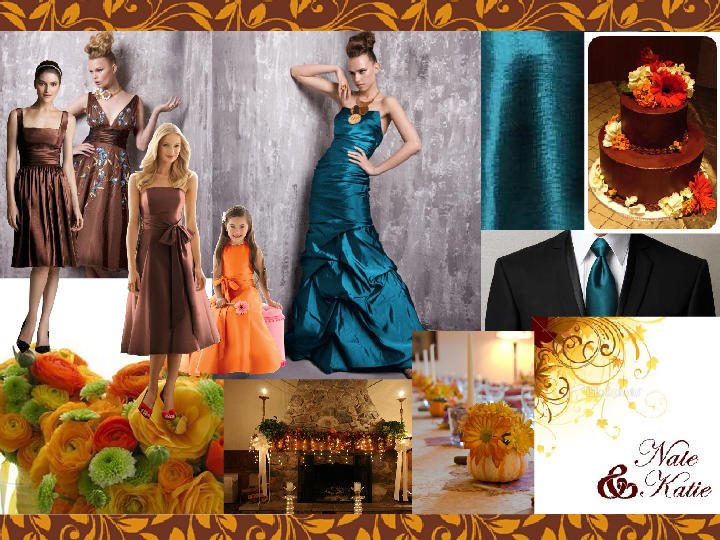 Brown And Teal Wedding Ideas: Teal And Brown Wedding Inspiration : PANTONE WEDDING