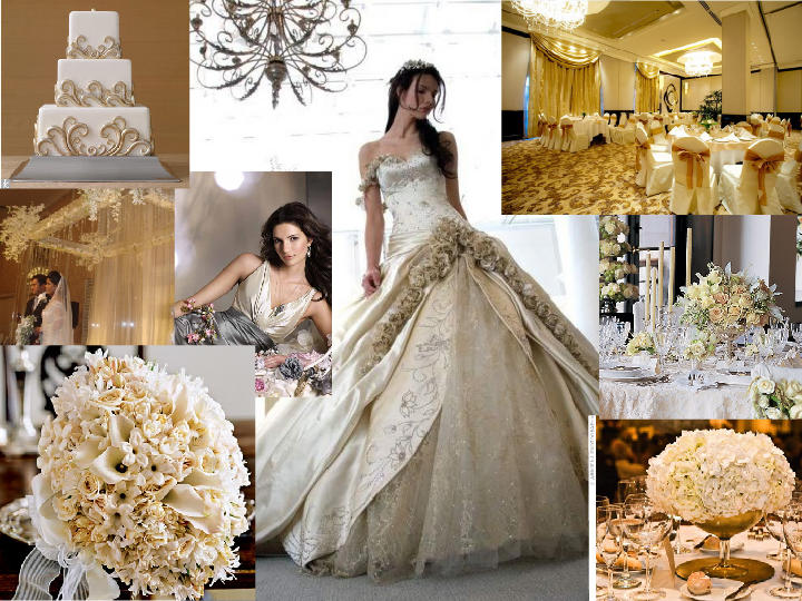 Champagne Cream - Champagne, Venetian Gold, Cleam, Silver, Ivory ...
