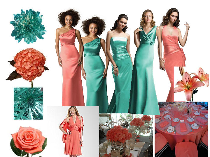 Coral And Turquoise Wedding: Coral/Ginger & Pantone Turquoise : PANTONE WEDDING