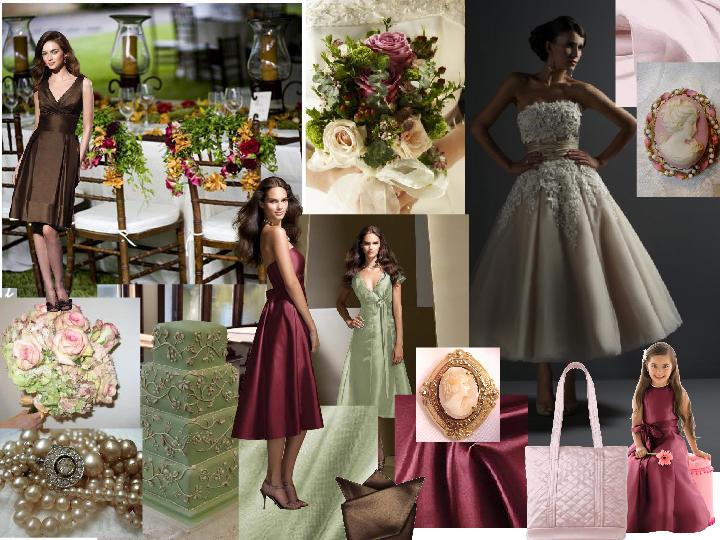 Blushing Earth Tones : PANTONE WEDDING Styleboard | The Dessy Group