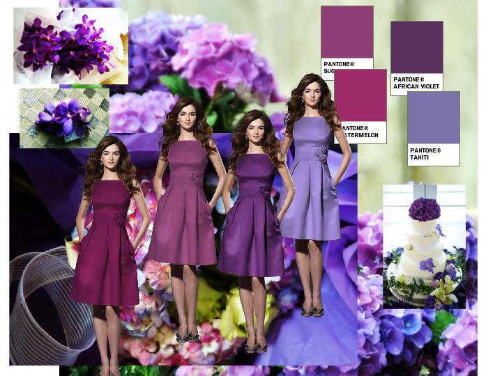 Purple Color Scheme PANTONE WEDDING Styleboard