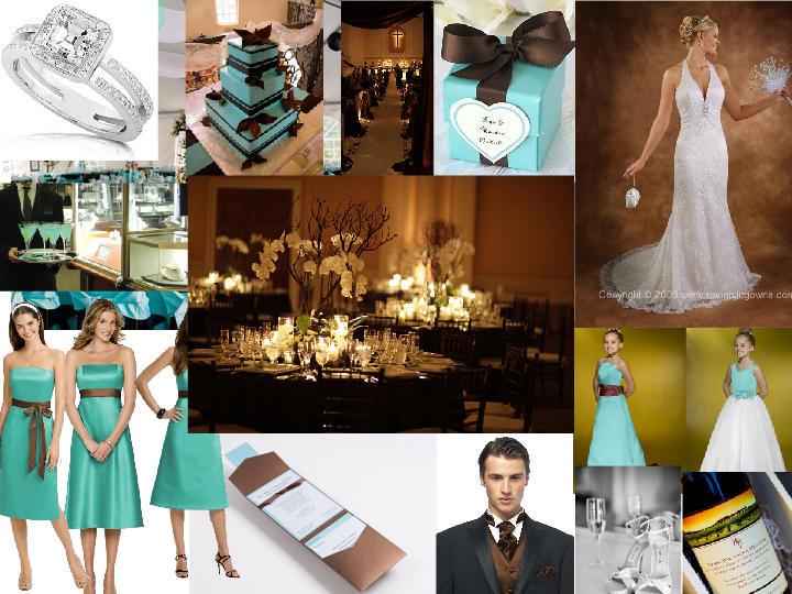 Tiffany Blue and Chocolate Wedding : PANTONE WEDDING Styleboard ...