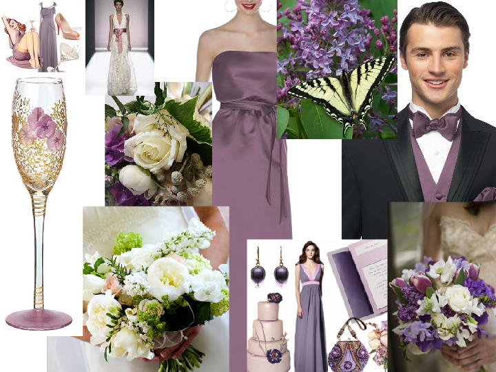 lilac and champagne already : PANTONE WEDDING Styleboard | The Dessy ...
