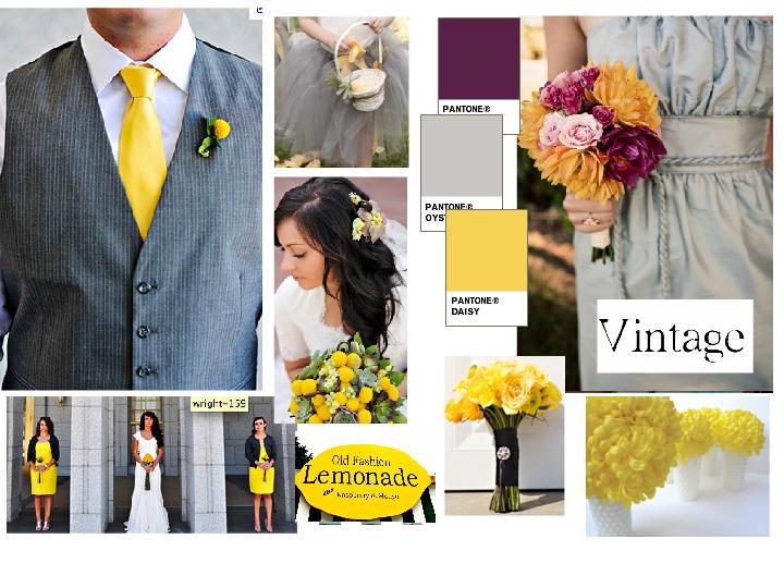Yellow/Gray/Purple Combo <3 : PANTONE WEDDING Styleboard | The ...