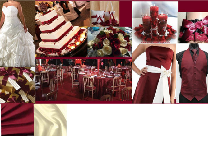 Red Wine And Gold Pantone Wedding Styleboard The Dessy Group