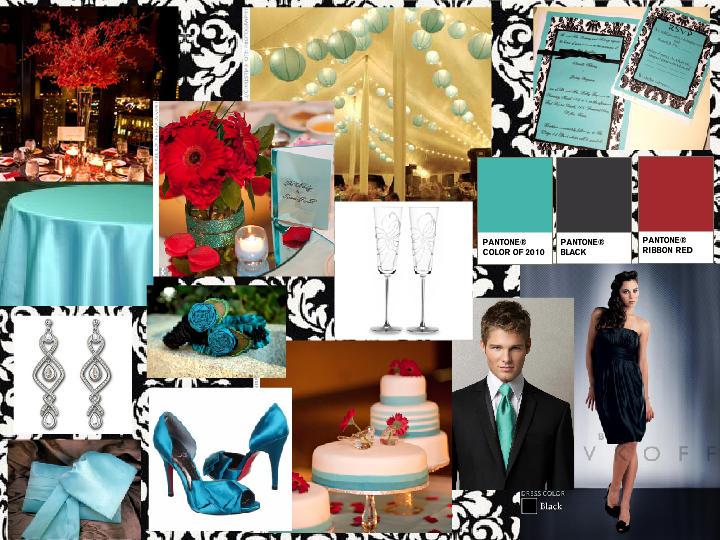 My Tiffany Blue, Red & Black wedding : PANTONE WEDDING Styleboard ...