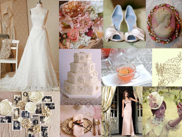Victorian Inspired Garden Wedding Pantone Wedding Styleboard The