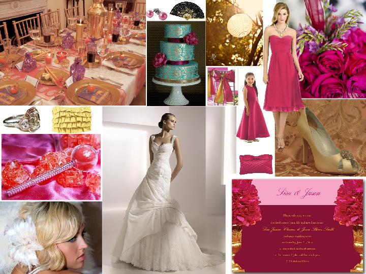 4dfcef4fce202 Hot pink & gold wedding : PANTONE WEDDING Styleboard | The Dessy Group