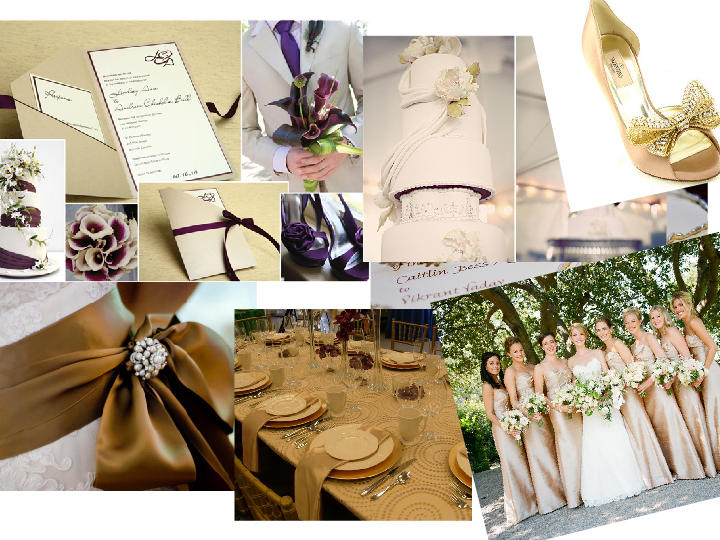 Cream And Gold Or Purple And Cream Theme You Choose Pantone