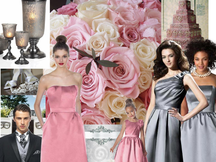 Well-known Platinum and Cherry Blossom Pink : PANTONE WEDDING Styleboard  ZZ52
