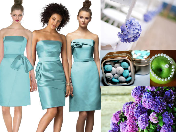 Aqua & Purple with lime green accents : PANTONE WEDDING Styleboard ...