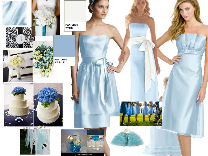 Ice Blue in a Winter Wonderland : PANTONE WEDDING Styleboard | The ...