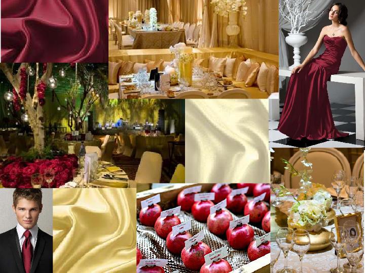 WEDDING BOARD RED, GOLD, IVORY : PANTONE WEDDING Styleboard | The ...