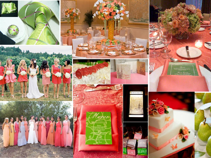 Coral Pink, Pink and Green Chic Wedding! : PANTONE WEDDING ...