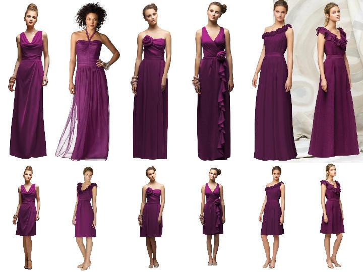 Purple - Entourage 1 : PANTONE WEDDING Styleboard | The Dessy Group
