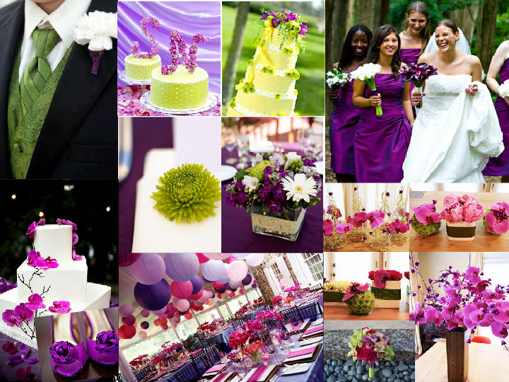 Lime Green, Fuschia and Purple Treat. : PANTONE WEDDING Styleboard ...