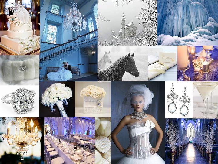 White Winter Wonderland Wedding : PANTONE WEDDING Styleboard   The ...