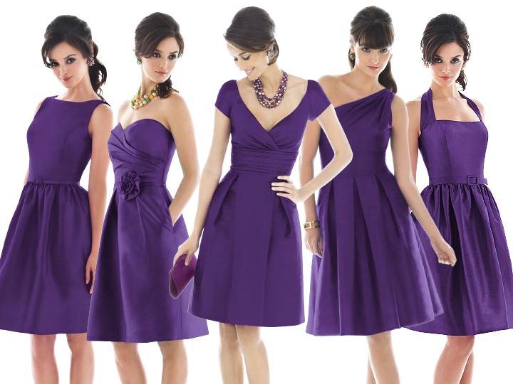 Purple Bridesmaids Dresses Pantone Wedding Styleboard