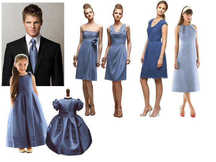 17c6cd4ad Blue Steel : PANTONE WEDDING Styleboard | The Dessy Group