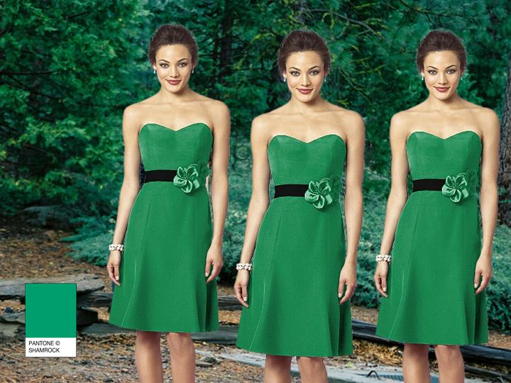 GREEN SHAMROCK PANTONE WEDDING Styleboard