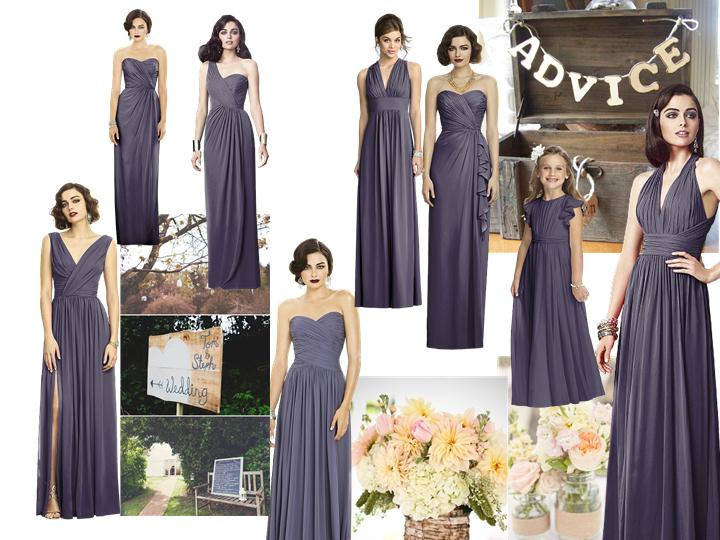 maids : PANTONE WEDDING Styleboard   The Dessy Group