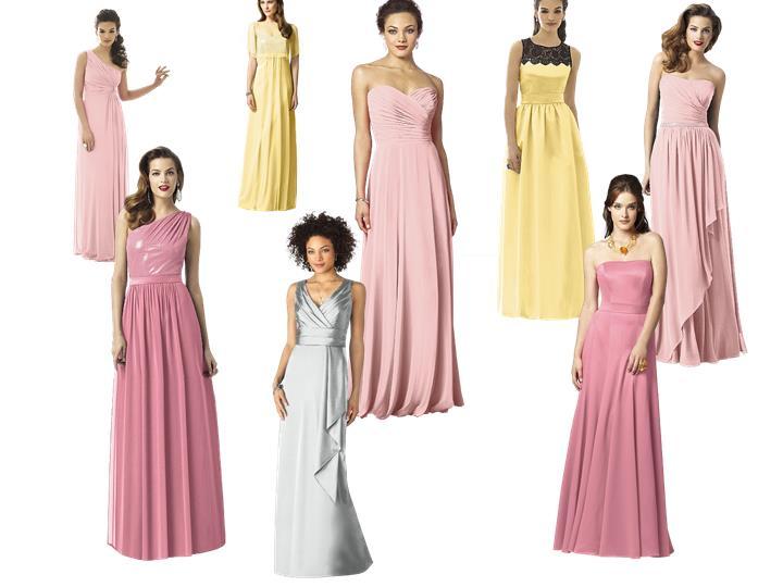 7b2ff195611 Bridesmaid Dresses   PANTONE WEDDING Styleboard